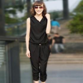 2012夏季 女装大码雪纺连体裤 显瘦七分裤子 哈伦裤
