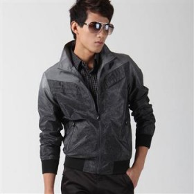 2012男装 秋装新款夹克衫 帅气男士夹克 渐变薄款外套