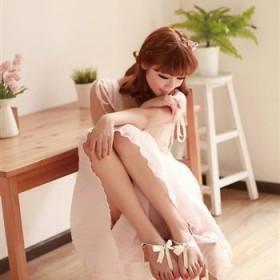 韩版甜美夹趾凉鞋真牛皮女鞋