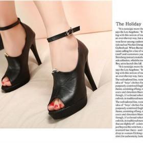 2013特价欧美性感纯色防水绑带绒面女人味高跟鞋