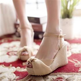 2013夏季新款凉鞋丝带多穿鱼嘴鞋坡跟厚底松糕女鞋