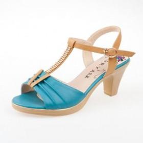 夏款韩版 简约复古女鞋 舒适品牌气质女凉鞋