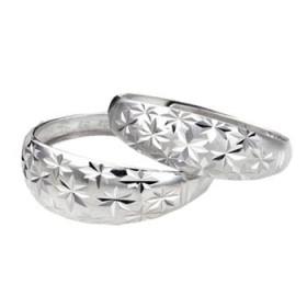 满天星 S925纯银戒指 男女情侣对戒 单只价 大小可调节