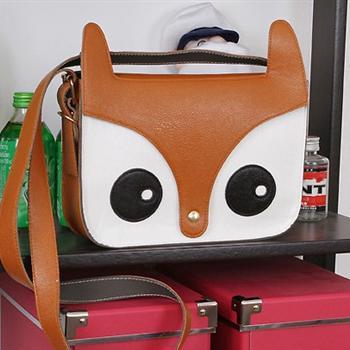 狐狸头小松鼠可爱日系卡通复古单肩斜跨女包包