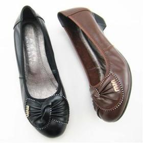 2013新款春季女鞋 坡跟媽媽鞋 品牌女士鞋 低幫鞋