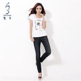 【下单减30】20年品牌牛仔裤秋冬休闲裤韩版新款女裤子