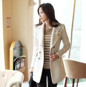 2013春装新款韩版女装新款毛呢子大衣外套修身呢衣