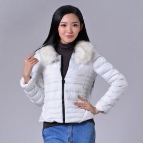 奢华大毛领 冬装新款女装短款棉衣
