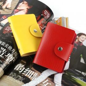 2013新款女包 纯色日韩风范24位卡包 多色可选