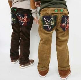 韩版儿童小童加绒加厚裤子