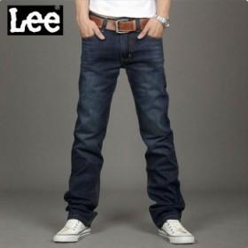 爆款 LEE品牌秋冬直筒牛仔裤和男士袜子一双