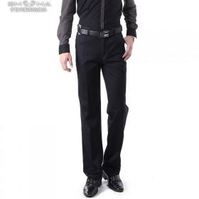男装品牌裤子2013秋冬新品青年直筒商务休闲男裤蓝色
