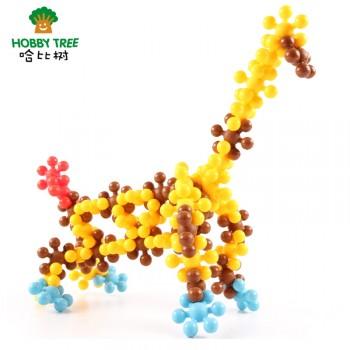 雪花片拼图梅花积木儿童智力玩具乐高式塑料拼插拼装