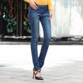 韩版中腰小脚牛仔裤