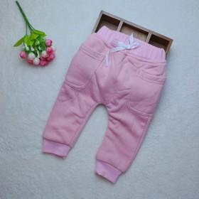 外贸童装加绒加厚婴儿裤子 宝宝哈伦裤儿童大PP裤男童