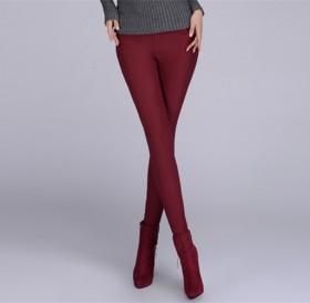 百搭抓绒加绒加厚打底裤子纯棉靴裤女裤长裤