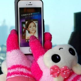 韩版加厚情侣触摸屏手套 保暖手套