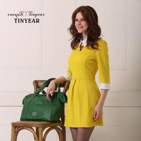 【泰妮儿】提花连衣裙 七分袖 2月14号前发货