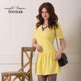 【泰妮儿】娃娃领 纯色打底裙 2月14日前发货