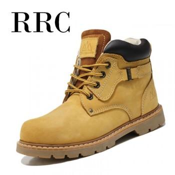RRC韩版马丁男英伦真皮靴男士棉鞋潮短靴