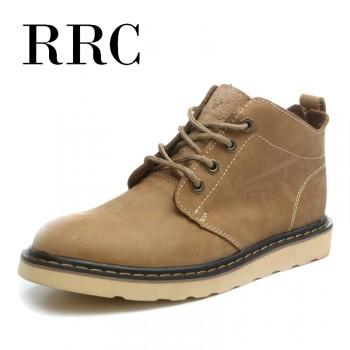 RRC韩版潮流英伦马丁靴男士真皮短靴