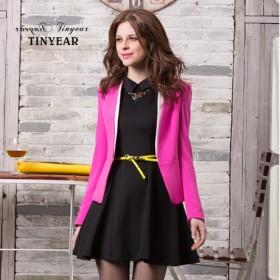 [泰妮儿]修身 西装外套 迟2月8号发货