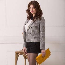 [泰妮儿]修身西装外套女长袖  迟2月8号发货