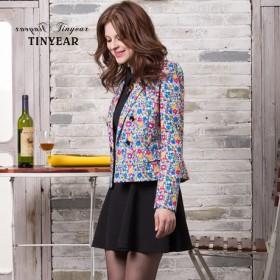 [泰妮儿]时尚小碎花西装外套  迟2月8号发货