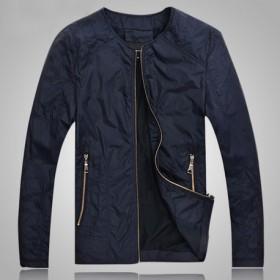 男士夹克外套春装新品2014薄款修身
