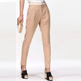 【XIYO】气质 时尚 中腰 萝卜裤 纯色休闲裤 女
