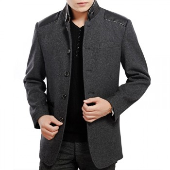 【意大利品牌】 卡奥羊毛呢修身夹克 中年男装