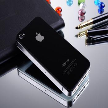 【包邮】 iphone4手机后盖 苹果4/4s后壳 钢化玻璃壳 原装后
