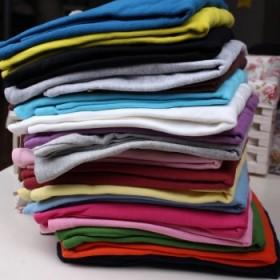 2014秋冬外贸儿童打底衫 男女童全棉糖果色纯色T恤
