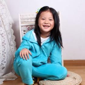 2014秋款儿童女童天鹅绒 纯棉卫衣 休闲运动套装