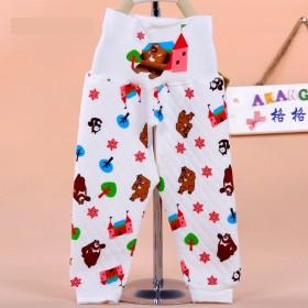 婴儿保暖护肚裤子新生儿高腰长裤子睡裤 宝宝秋装 束口