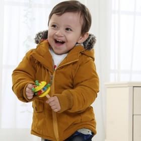 儿童羊羔毛棉袄宝宝风衣