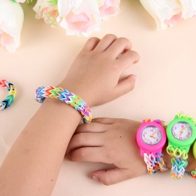 彩虹织机手工diy编织手表