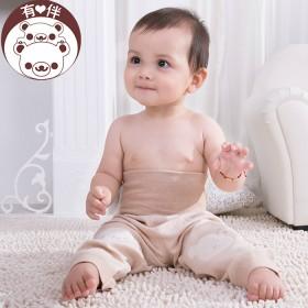 有伴婴儿有机棉高腰护肚裤秋必备