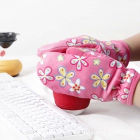 女式手套加绒加厚保暖全指手套