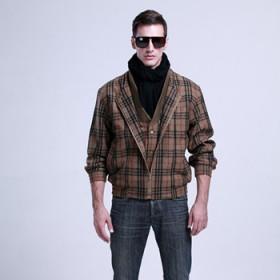 德国原单大码男装外套羊毛夹克