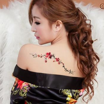 小梅花纹身图分享展示