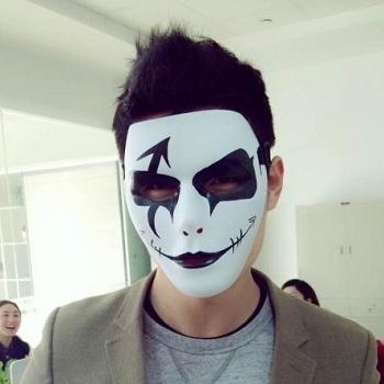 面具 跳舞面具 鬼步舞手绘面具