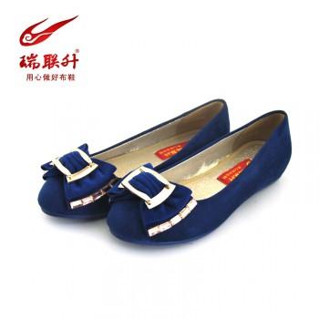 瑞联升老北京布鞋新款时尚平底凉鞋透气包头工作单鞋