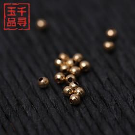 千寻玉品 韩国14K金珠 DIY戒指散珠