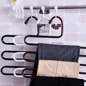 s型多功能衣柜防滑裤子挂钩架置物架特价铁艺