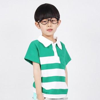 月牙猴童装韩版男童夏季短袖条纹纯棉儿童T恤