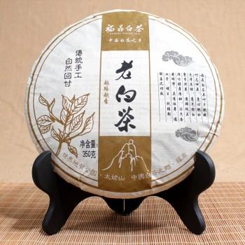 漂亮茶妹福鼎老白茶饼357克