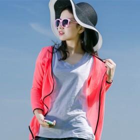 紫冉夏装女纯色修身百搭防晒衣薄针织空调开衫外套