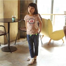 外贸原单童装纯棉短袖圆领T恤