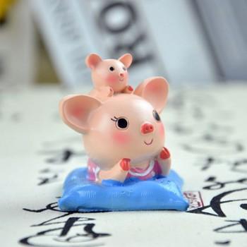 【包邮】 创意工艺树脂摆件大耳猪室内桌面小动物摆饰儿童小礼品